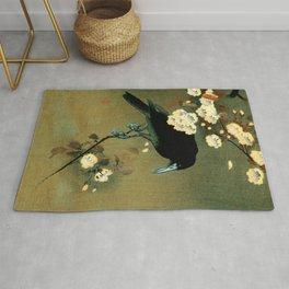 Ohara Koson - Top Quality Art - Crow and Blossom Rug