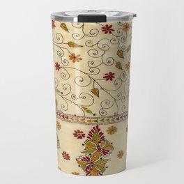Kantha Fabric Art Travel Mug