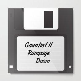 90s Video Games Diskette Metal Print