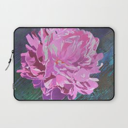 Single Pink Peony in a Ball Canning Jar Laptop Sleeve