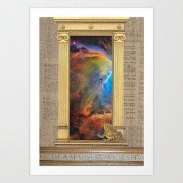 Godspeed Stephen Hawking Art Print