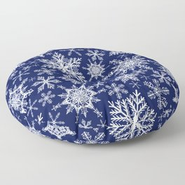 Magic Winter Snowflakes Floor Pillow