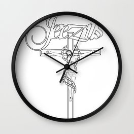JEEZUS Wall Clock