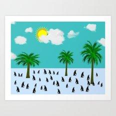 Urlaub Art Print