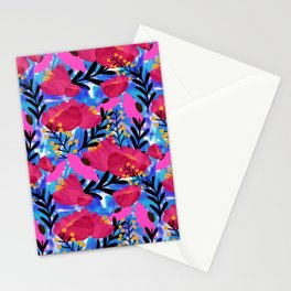 Vibrant Floral Wallpaper Stationery Cards