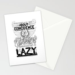 What do we say about coincidences? Stationery Cards