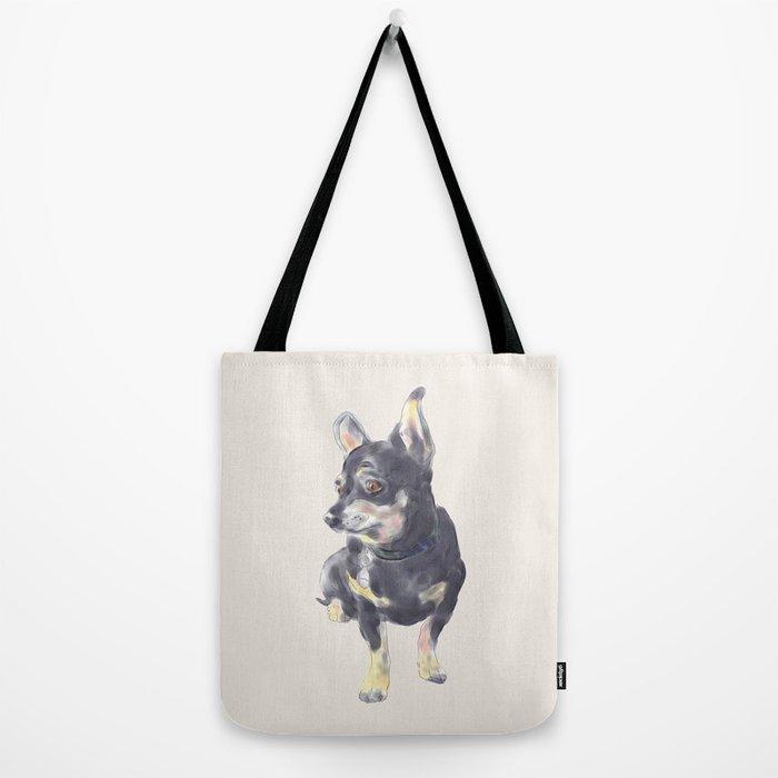 Little Dog Waiting Tote Bag