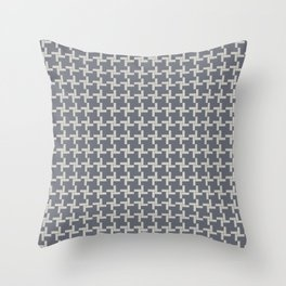 Modern Grey Pin wheel Throw Pillow