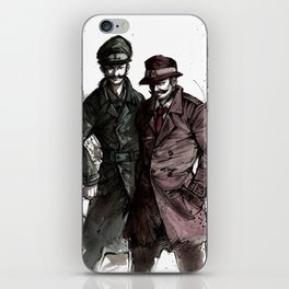 Mario and Luigi Detectives sumi/watercolor iPhone Skin