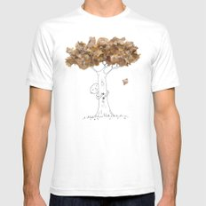 Pencil shavings tree SMALL White Mens Fitted Tee