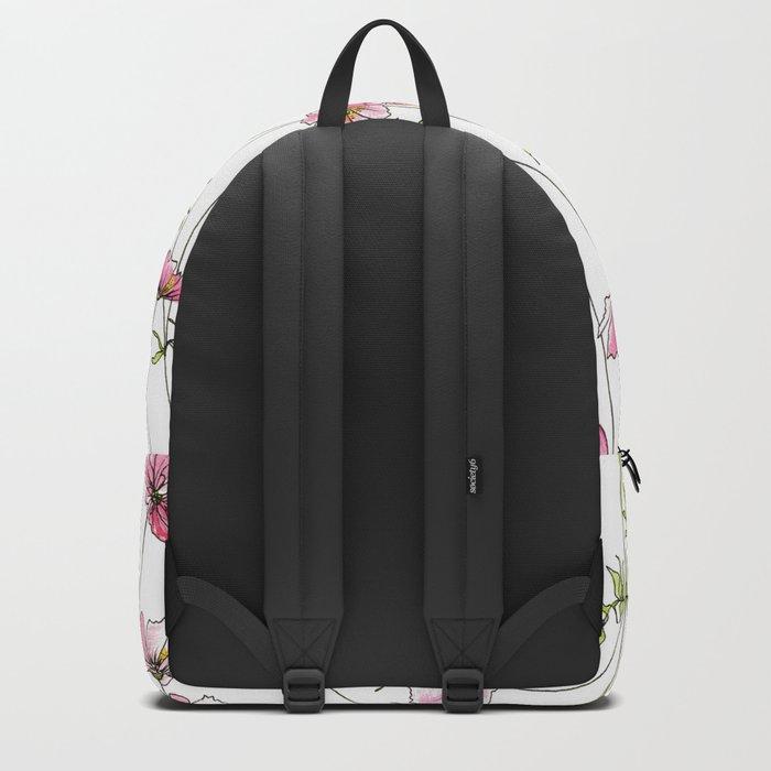 Pink Cosmos Flowers Backpack