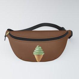 Pistachio Soft Serve Ice Cream Swirl  Fanny Pack