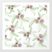 zipper floral Art Print