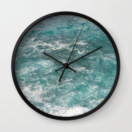 rough waters | oahu hawaii Wall Clock