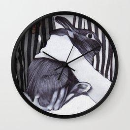Miss Emma & Her Bunny Wall Clock