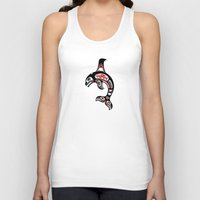 killer whale Tank Tops featuring Red and Black Haida Spirit Killer Whale by Jeff Bartels