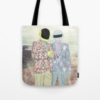 daft punk Tote Bags featuring Daft Punk. by Lucas Eme A