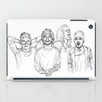 one direction iPad Cases featuring One Direction by Cécile Pellerin