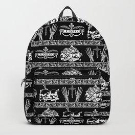 Engraved Skulls Vintage Gothic Print Backpack