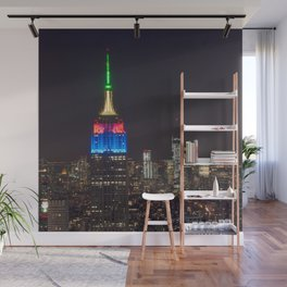 Empire state in the night  Wall Mural
