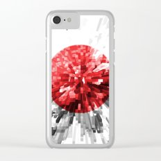 Japan Flag - Extrude Clear iPhone Case