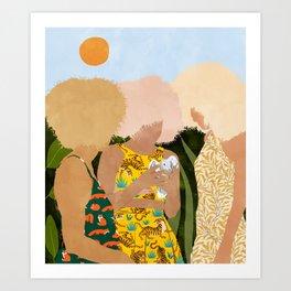 Nature Lovers #illustration #painting Art Print