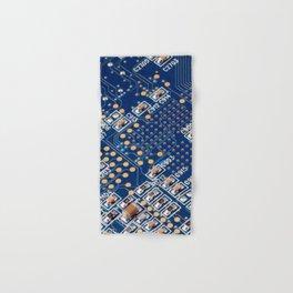 Blue Panel Hand & Bath Towel