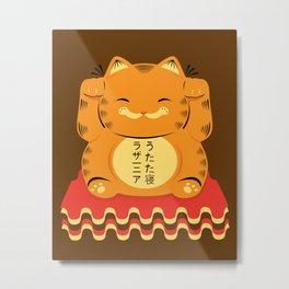 Lucky Garfield Metal Print