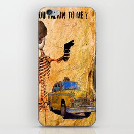 You talking to me??  Monsieur Bone  iPhone Skin