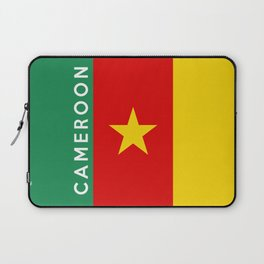 Cameroon country flag name text Laptop Sleeve
