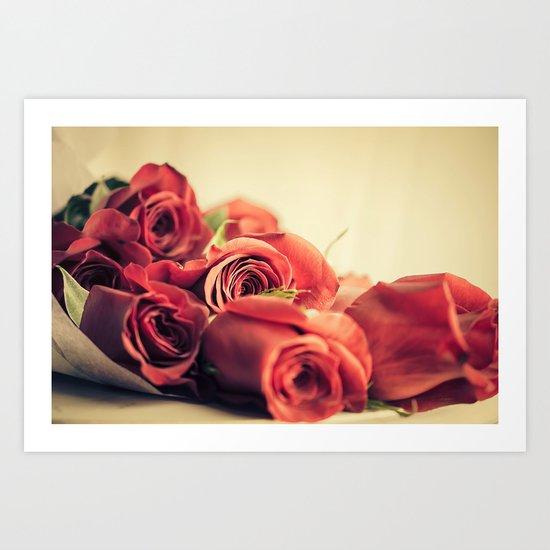 A Dozen Roses Please Art Print