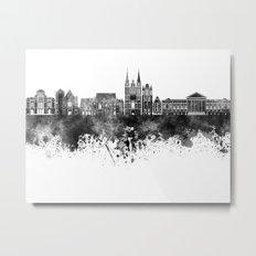 Angers skyline in black watercolor Metal Print