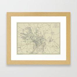 Vintage Map of Jerusalem Israel (1917) Framed Art Print