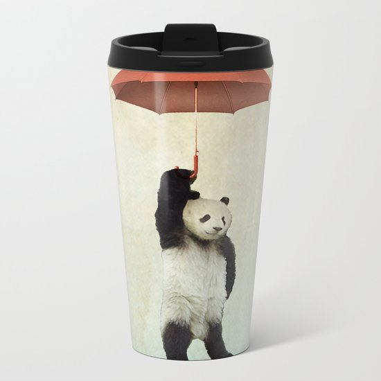Pandachute Metal Travel Mug