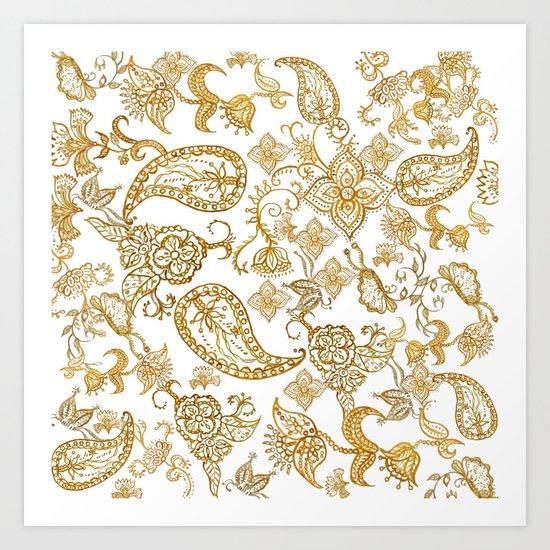 India henna pattern Art Print