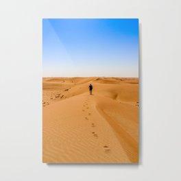 Desert Walk Metal Print