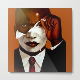 Face reality. Anti racism Metal Print