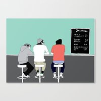 boys Canvas Prints featuring No 9 by kate alexandra