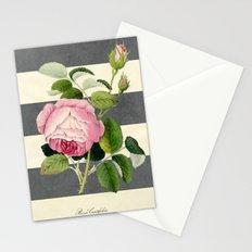 botanical stripes II gray Stationery Cards