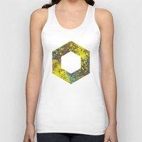hexagon Tank Tops featuring Hexagon by Daniel DeVinney