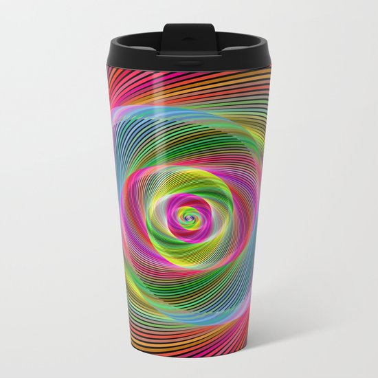 Psychedelic spiral dream Metal Travel Mug