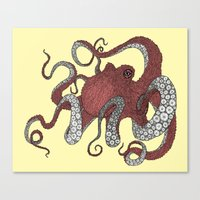 octopus Canvas Prints featuring Octopus by Amanda James
