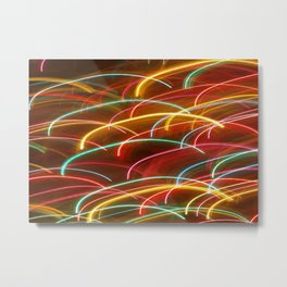 Arcs of Light Metal Print