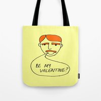 70s Tote Bags featuring 70s Valentine by MergersMergers