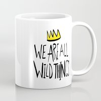 wild things Mugs featuring Wild Things II by Leah Flores