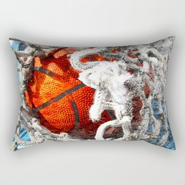 Basketball art swoosh vs 34 Rectangular Pillow