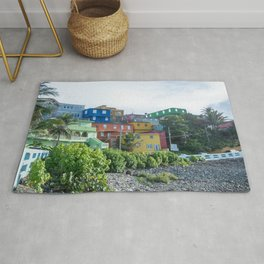 San Juan Puerto Rico Colorful Buildings Rug