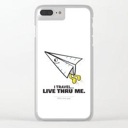 I Travel... Live Thru Me. Clear iPhone Case