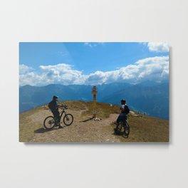 mountain bike frommes trail alps serfaus fiss ladis tyrol austria europe Metal Print