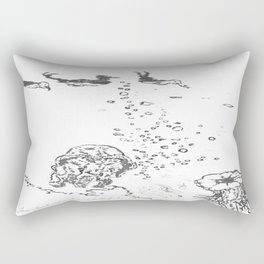 Two Tailed Duck and Jellyfish White Rectangular Pillow